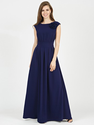Платье agnia, цвет темно-синий