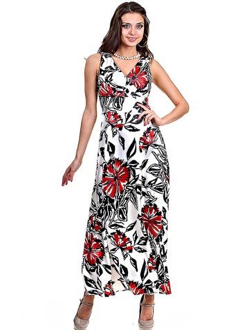 Платье selino, цвет красный на белом
