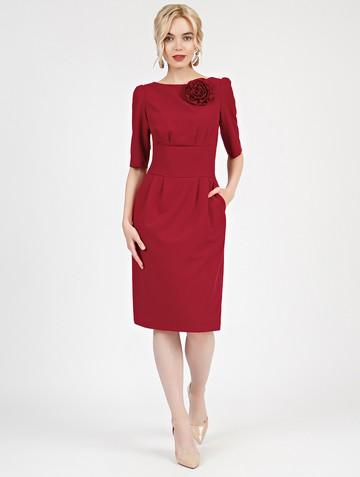 Платье kriss, цвет карминный