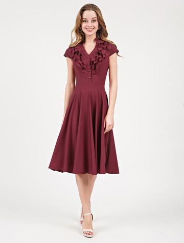 Платье fernanda, цвет бордо