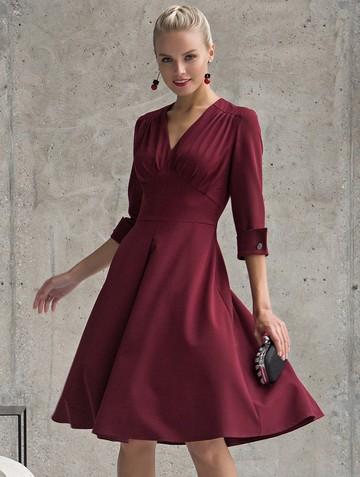 Платье toy, цвет бордовый