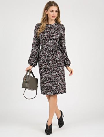 Платье varvara, цвет черно-серый