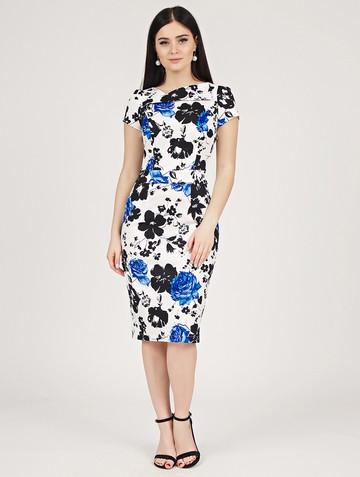 Платье albina, цвет бело-синий
