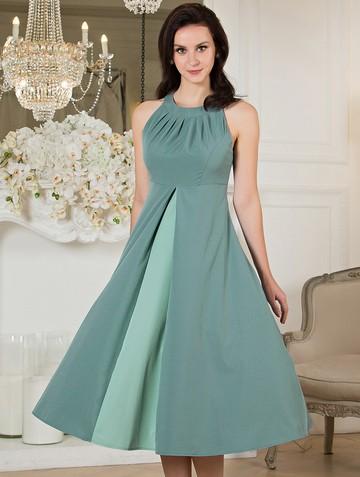 Платье antonella, цвет серо-зеленый