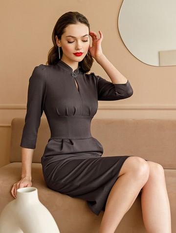 Платье fillida, цвет кофейный