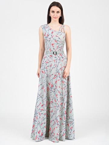 Платье klea, цвет серо-красный