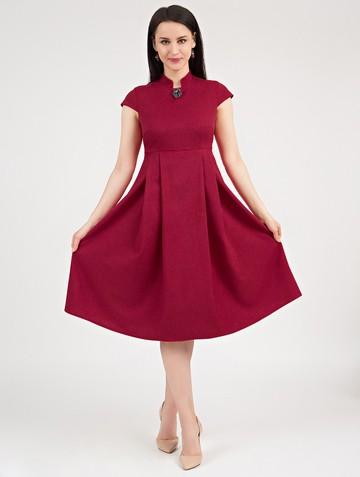Платье maru, цвет карминный
