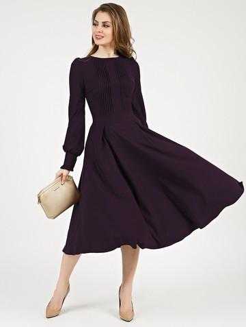 Платье djelika, цвет темно-фиолетовый