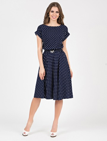 Платье lanty, цвет сине-белый
