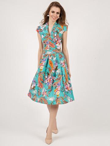 Платье solima, цвет бирюзовый