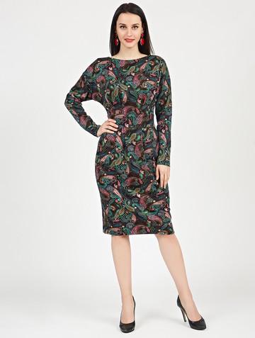 Платье nisetty, цвет черно-розовый