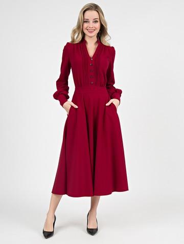 Платье liann, цвет карминный
