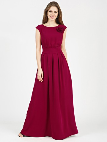 Платье agnia, цвет бордовый