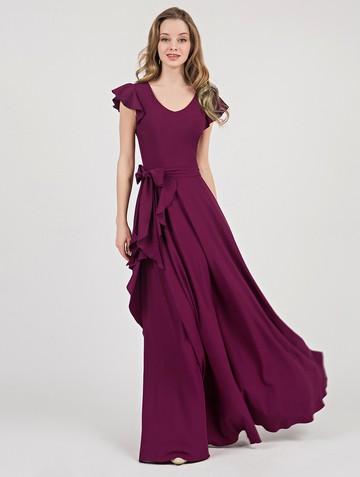Платье selesta, цвет сливовый