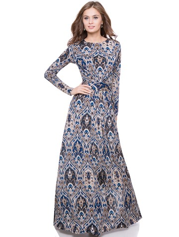 Платье niko, цвет бежево-синий