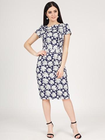 Платье albina, цвет сине-белый