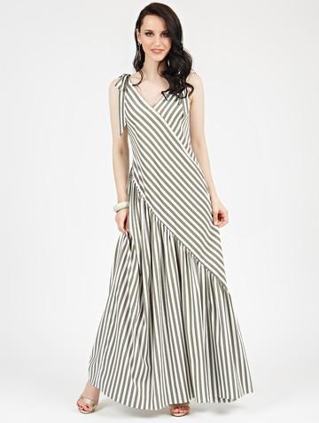 Платье drew, цвет молочно-оливковый
