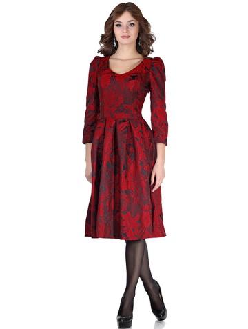 Платье benno, цвет черно-красный