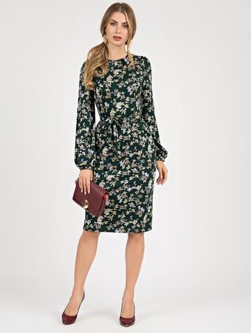 Платье varvara, цвет темно-зеленый
