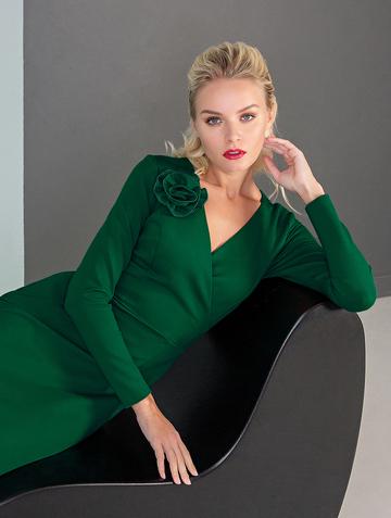 Платье sivera, цвет изумрудный