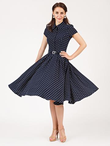 Платье trisha, цвет темно-синий