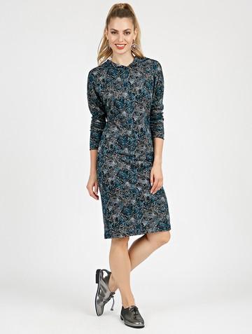 Платье ivy, цвет черно-голубой