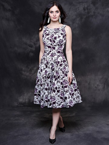 Платье mikey, цвет молочно-фиолет