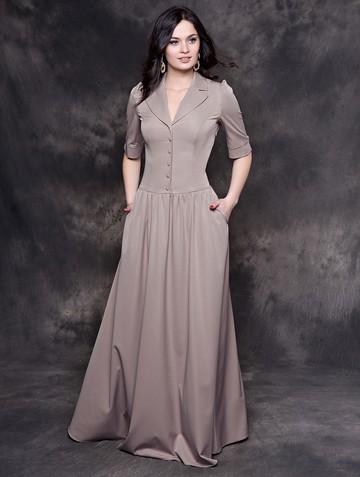 Платье galateya, цвет серо-розовый