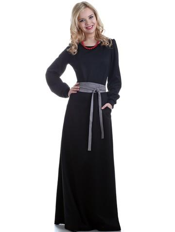 Платье vilno, цвет черный