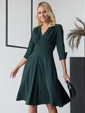 Платье toy, цвет темно-зеленый