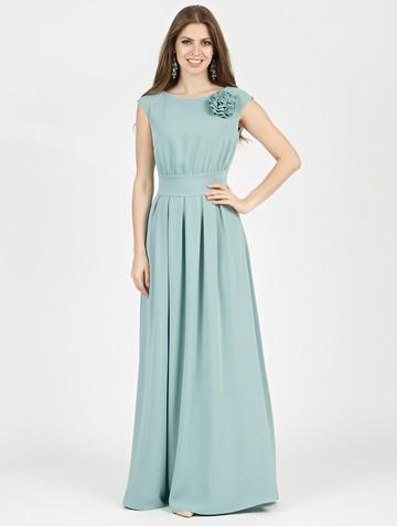 Платье agnia, цвет серо-мятный