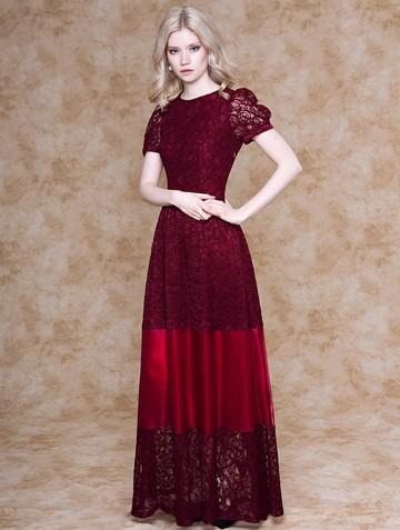 Платье sapphira, цвет бордовый