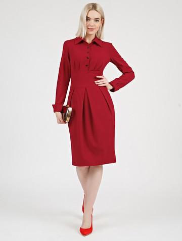 Платье nioby, цвет карминный