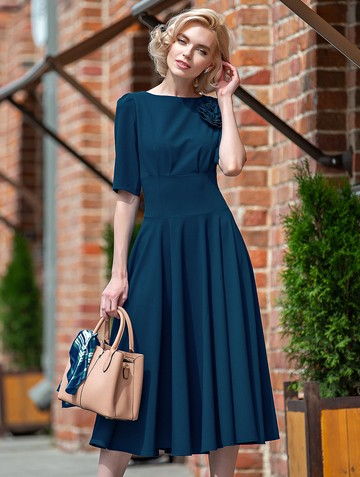Платье santa, цвет зелено-бирюзовый