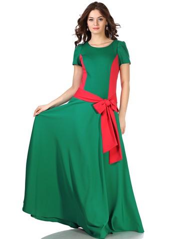 Платье keit, цвет изумрудно-коралл