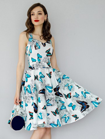 Платье adella, цвет молочно-синий