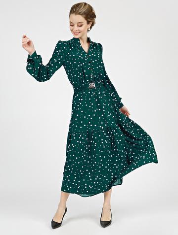 Платье meril, цвет темно-зеленый
