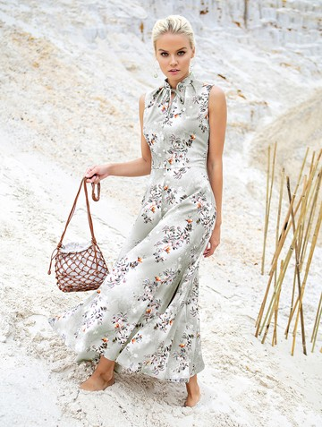 Платье ninbo, цвет светло-серый