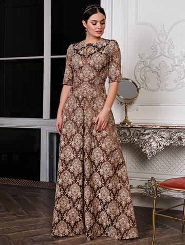Платье peretta, цвет шоколадный