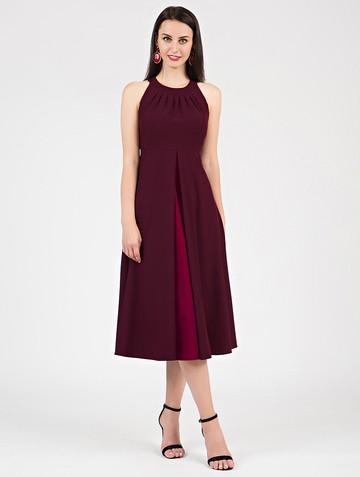 Платье antonella, цвет бордовый