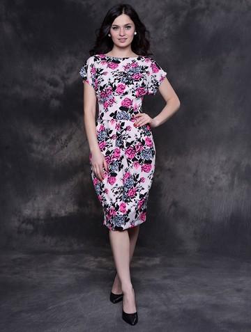 Платье djenna, цвет черно-розовый