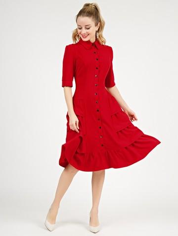 Платье danielle, цвет красный