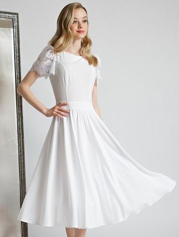 Платье ellina, цвет белый