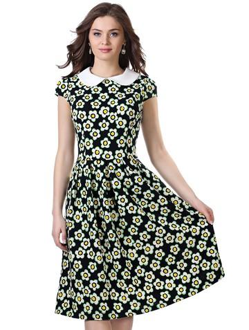 Платье lala, цвет сине-зеленый