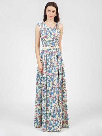 Платье klea, цвет желто-синий