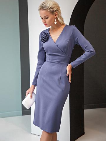 Платье sivera, цвет лазурный