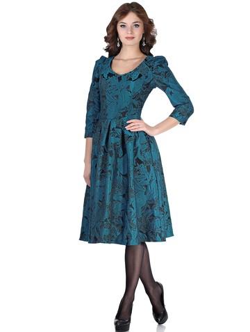 Платье benno, цвет черно-бирюзовый