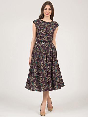 Платье vitalina, цвет бежево-фиолетовый