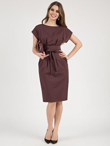 Платье elena, цвет сливово-вишневый