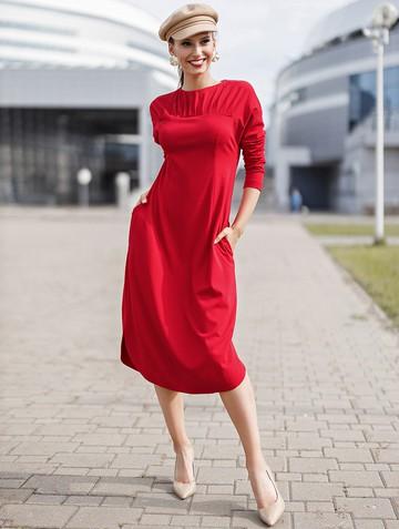Платье arlena, цвет красный